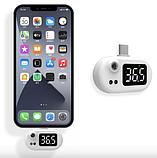 Термометр беcконтактный для тела K8 белый с подключением в телефон, фото 3