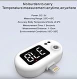 Термометр беcконтактный для тела K8 белый с подключением в телефон, фото 5