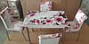 """Розкладний стіл обідній кухонний комплект стіл і стільці 3D малюнок 3д """"Рожева квітка"""" ДСП скло 70*110 Mobilgen 1301"""