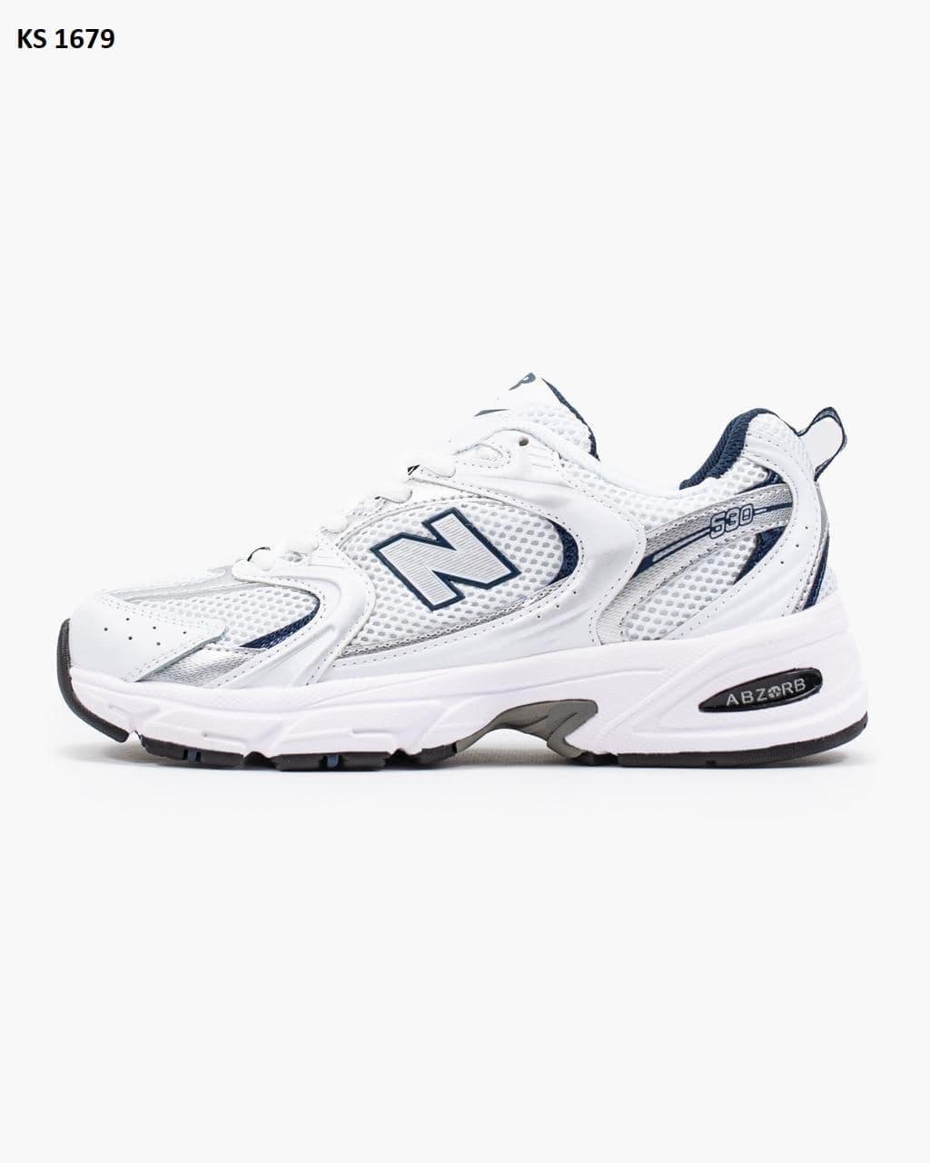 Женские кроссовки New Balance 530 Abzorb (белые) KS 1679 качественные кроссы