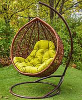 Подвесное кресло-кокон Веста со стойкой, до 120 кг (170 кг), 105*73*120 см, цвет на выбор + Гарантия