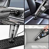 Автомобільний пилосос компресор 4 в 1 бездротової з цифровим манометром Багатофункціональний насос AKS-9200, фото 7