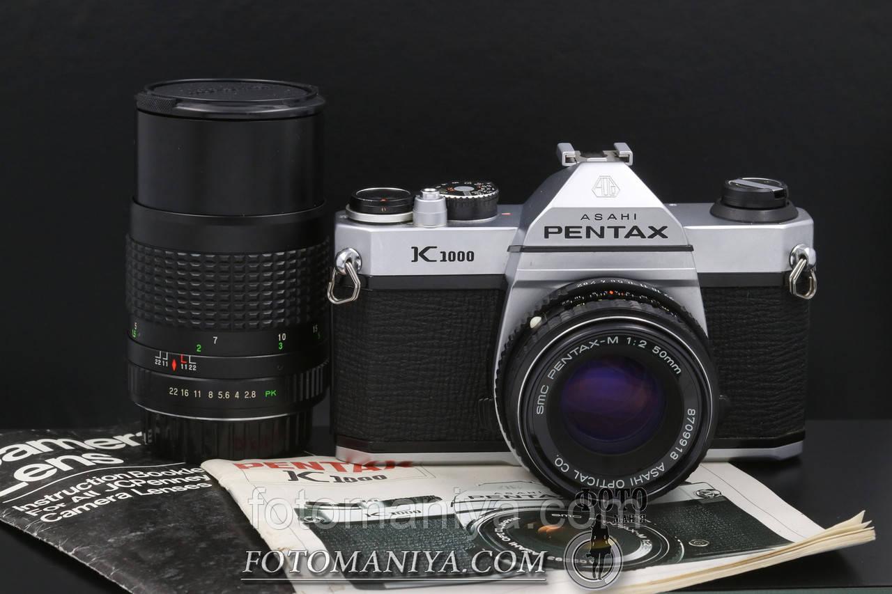Pentax K1000 kit SMC Pentax-M 50mm f2.0 + JCPenney MC 135mm f2.8