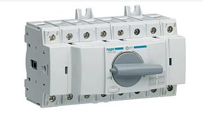 Выключатель напряжения (рубильник) поворотный Hager HIM408 I-0-II 80А 400/690В 4P 8м
