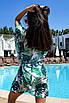 Коротка пляжна туніка-плаття з принтом з шифону, фото 9