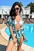 Коротка пляжна туніка-плаття з принтом з шифону, фото 4