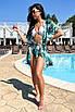 Коротка пляжна туніка-плаття з принтом з шифону, фото 5