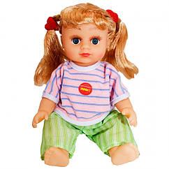 Інтерактивна лялька Оксаночка 5058-63-64-65-5039-25 (укр), в рюкзаку (Зелено-Рожевий наряд)