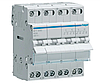 Модульний Перемикач однофазний Hager SFT440 4P 40А/400В 4м I-0-II