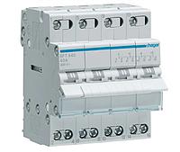 Модульный Переключатель однофазный Hager SFT440 4P 40А/400В 4м I-0-II