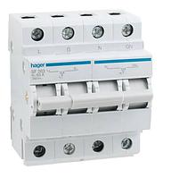 Модульный Переключатель однофазный Hager SF263 I-0-II 1+N 63А/230В 4м