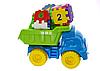 Детский игровой песочный набор 013585 с развивающим кубиком (Голубой с салатовым)