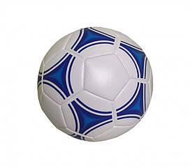 Мяч Футбольный BT-FB-0220 3-х шаровый с ниткой (Диаметр 21,6 см.) 380 г. (Синий)