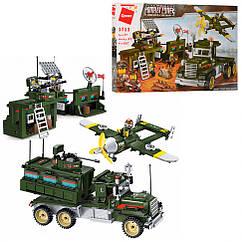Конструктор Qman 1713Q військовий, база, транспорт, 687 дет,
