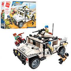 Конструктор Qman 3205Q військовий транспорт, фігурки, 452 дет,