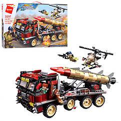 Конструктор Qman 3207Q військовий транспорт, фігурки, 661 дет,