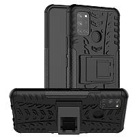 Чехол Fiji Protect для Realme 7 Pro противоударный бампер с подставкой черный