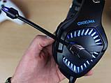 Наушники Onikuma K18 игровые с микрофоном и подсветкой, фото 5
