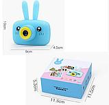 Цифровой детский фотоаппарат X500 Зайчик, фото 2
