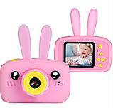 Цифровой детский фотоаппарат X500 Зайчик, фото 3