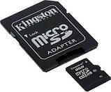 Карта пам'яті KINGSTON micro 8GB class 10 (c адаптером), фото 2