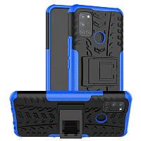 Чехол Fiji Protect для Realme 7 Pro противоударный бампер с подставкой синий