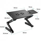 Столик трансформер для ноутбука Laptop Table T8, фото 4