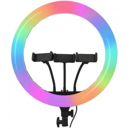 Світлодіодна кільцева лампа F133/1 RGB 45 см