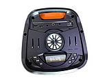 """Портативна бездротова акустична колонка з Bluetooth ZXX 5506 c мікрофоном 30Вт 6"""" USB/SD/FM/BT/MIC/ДУ, фото 6"""