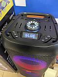 """Портативна бездротова акустична колонка з Bluetooth ZXX 5506 c мікрофоном 30Вт 6"""" USB/SD/FM/BT/MIC/ДУ, фото 7"""