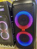 """Портативна бездротова акустична колонка з Bluetooth ZXX 5506 c мікрофоном 30Вт 6"""" USB/SD/FM/BT/MIC/ДУ, фото 8"""
