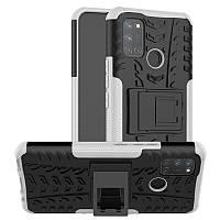Чехол Fiji Protect для Realme 7 Pro противоударный бампер с подставкой белый