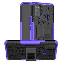 Чехол Fiji Protect для Realme 7 Pro противоударный бампер с подставкой фиолетовый