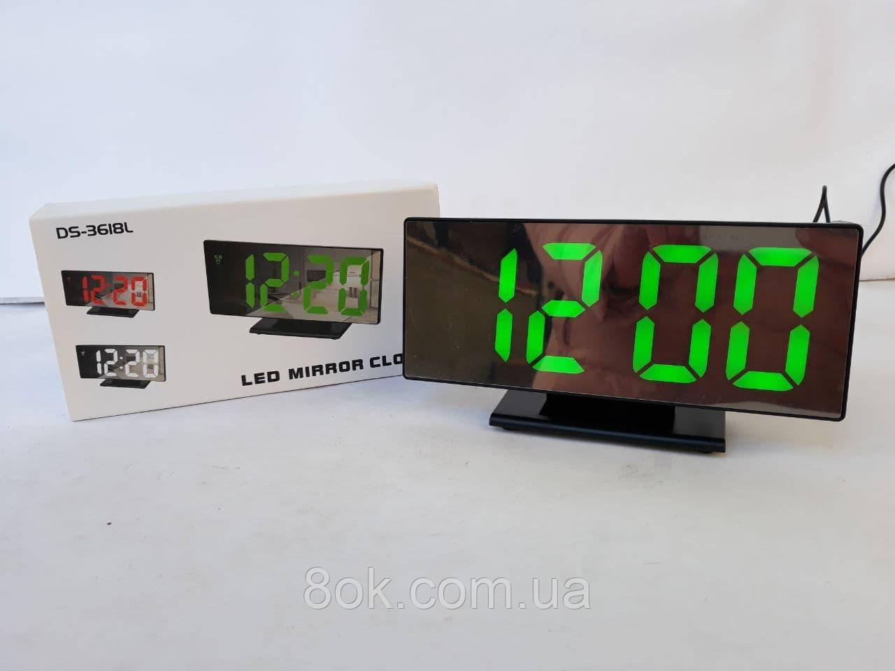 Часы светодиодные настольные DS-3618L
