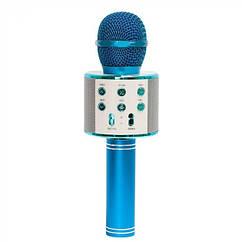 Караоке мікрофон WS-858 (Синій)
