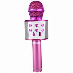 Караоке мікрофон WS-858 (Рожевий)