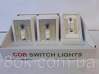 Ліхтарик-вимикач з кріпленням магнітним і липучкою
