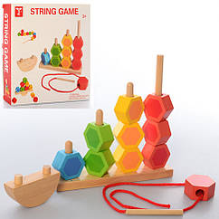 Дерев'яна іграшка Пірамідка MD 2488
