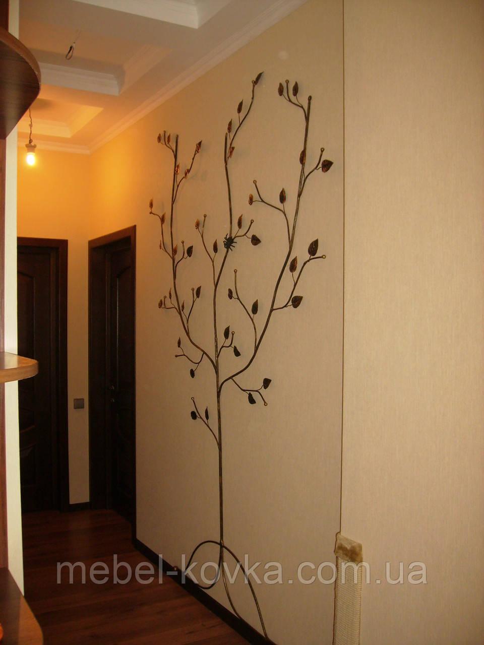 Вешалка кованая  в форме дерева 6