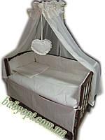 Постельное бельё в детскую кроватку Baby жакард линия 8 эл. В подарок - подвеска сердечко, фото 1
