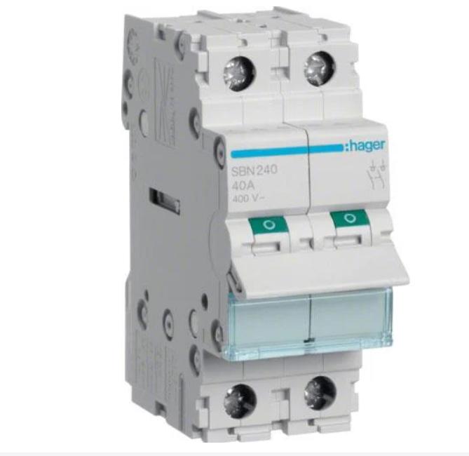 Модульний Вимикач навантаження однофазний Hager SBN325 3P 25А/400В 2м