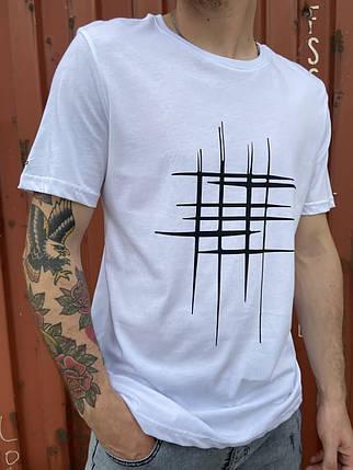 Мужская футболка белого цвета, фото 2