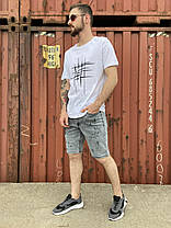Мужская футболка белого цвета, фото 3