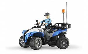 Поліцейський квадроцикл з фігуркою жінки і полісменом 63010