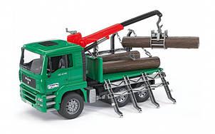Вантажівка MAN, перевізник колод з краном-навантажувачем, М1:16 02769