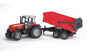 Трактор Massey Ferguson 7480 c причепом, М1:16 02045