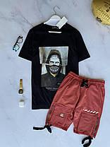 Чоловіча футболка чорна з принтом, фото 2