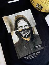 Чоловіча футболка чорна з принтом, фото 3