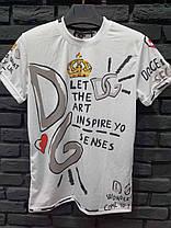 Мужская футболка Гуччи черная с цветами, фото 3