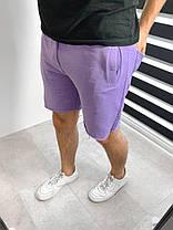 Мужские трикотажные шорты фиолетового цвета свободные, фото 2
